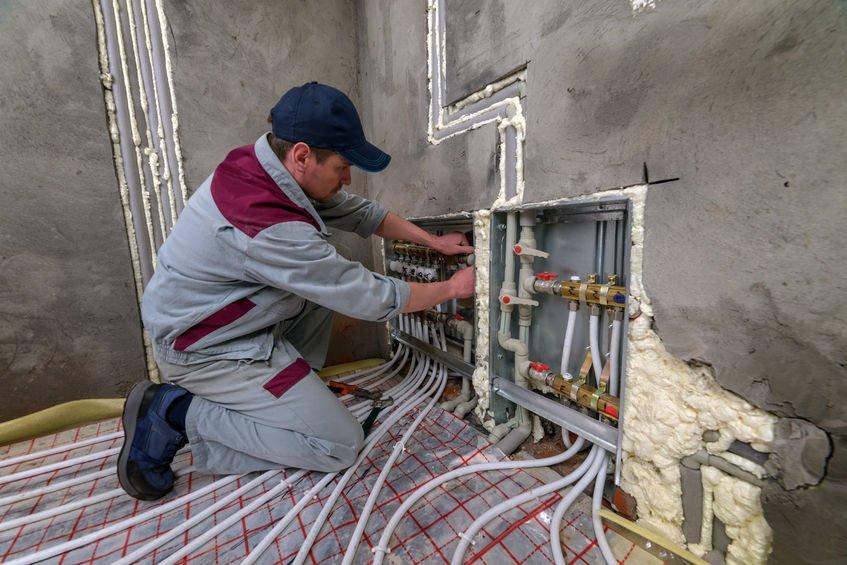 Installatie vloerverwarming